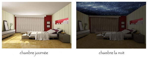 d coration chambre d enfant avec un ciel toil au plafond. Black Bedroom Furniture Sets. Home Design Ideas
