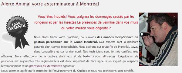 deratiseur Montreal